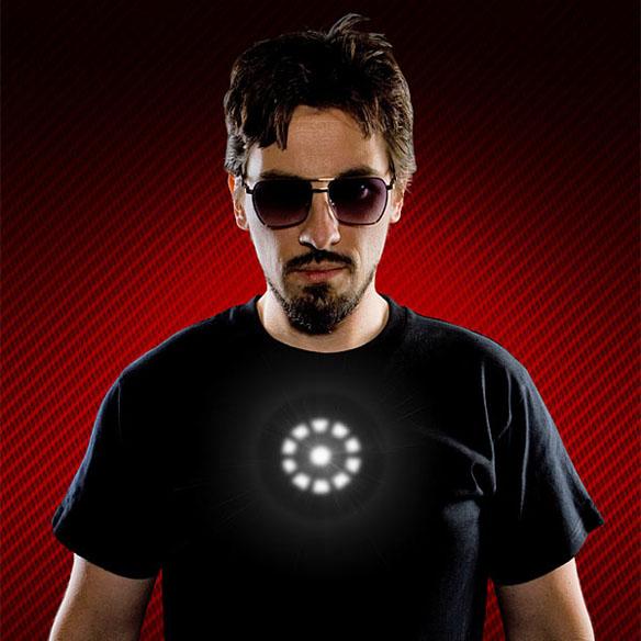 Tony Stark Light up LED Iron Man Shirt