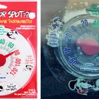 Static Cling Car Window Thermometer