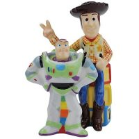 Toy Story Buzz Lightyear and Woody Salt and Pepper Shakers