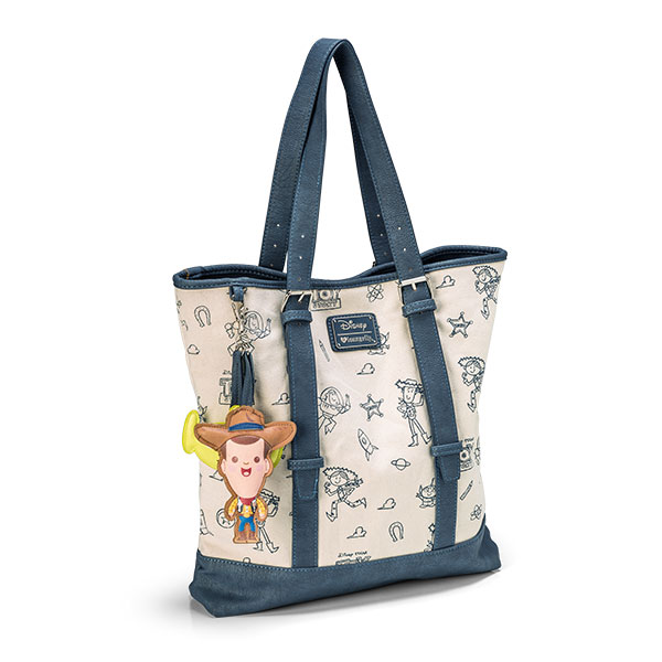 Toy Story Canvas & Leather Print Tote Bag