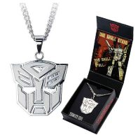 Transformers Autobots Logo Pendant with Chain Necklace