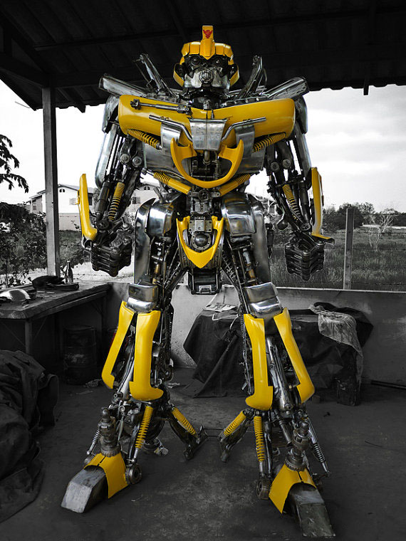 Transformers Bumblebee Metal Sculpture