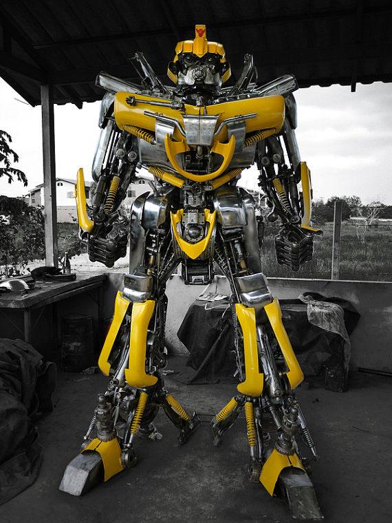 Transformers Bumblebee Metal Sculpture