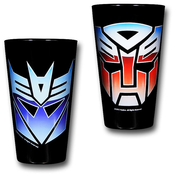 Transformers Decepticons and Autobots Pint Glasses