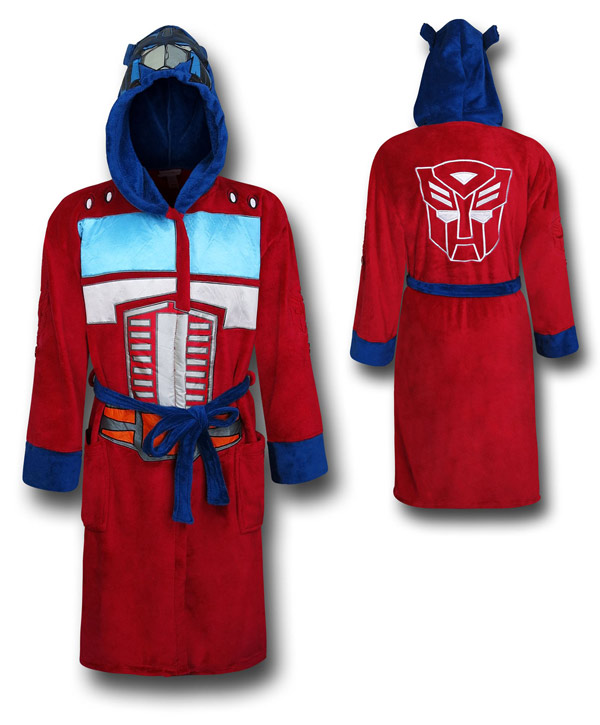 Transformers Optimus Prime Hooded Adjustable Bath Robe