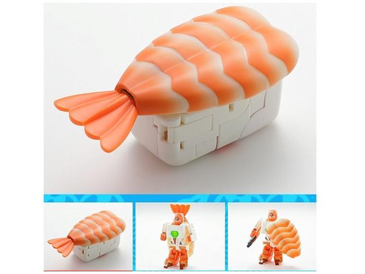 Transforming Sushi Squadron Figures