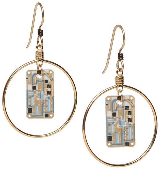 Transistor Sister Circuit Earrings