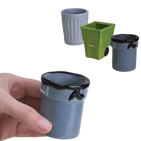 Trash Can Shot Glass Set