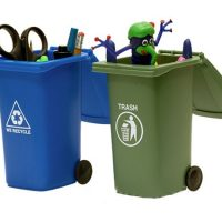 Trash & Recycling Mini Storage Bins