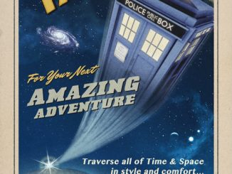 Travel by TARDIS Vintage-Style Doctor Who Poster