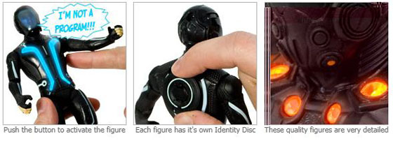 Tron Legacy Collectible Working Action Figures