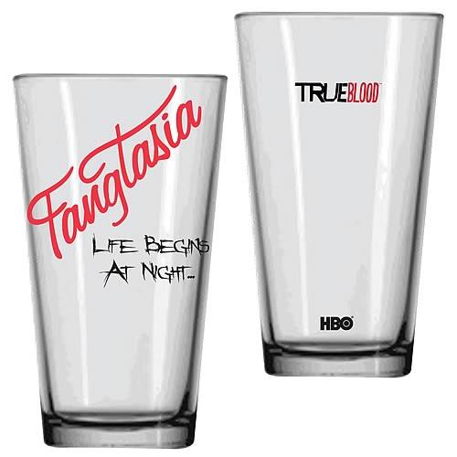 True Blood Fangtasia Life Begins At Night Glass Tumbler