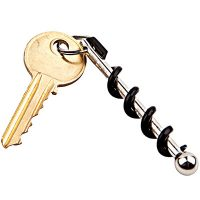 True Utility Twistick Keychain Corkscrew