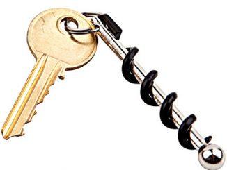 True Utility Twistick Keychain Corkscrew