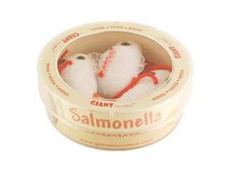 Tub of 3 Salmonella Plush Toys