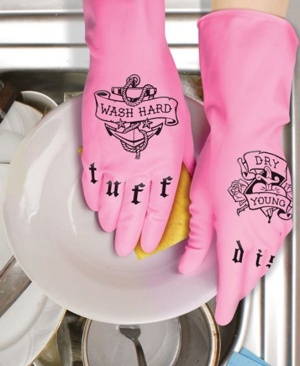 Tuff Dish: Tattoo Kitchen Gloves