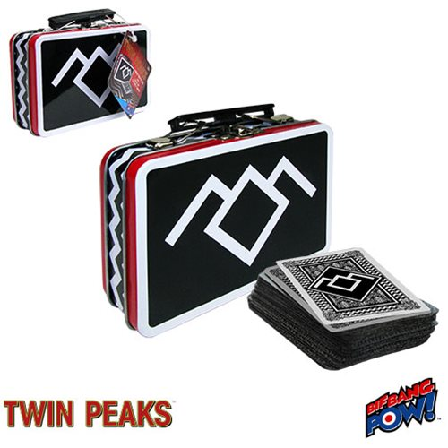Twin Peaks Mini Tin Tote with Deck of Playing Cards