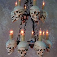 Two Tiered Medium Skull Chandelier