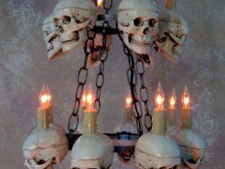 Two Tiered Medium Skull Chandelier