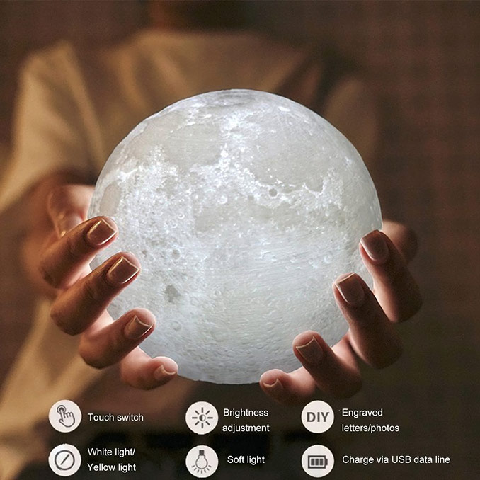 Touch LED Moon Lamp
