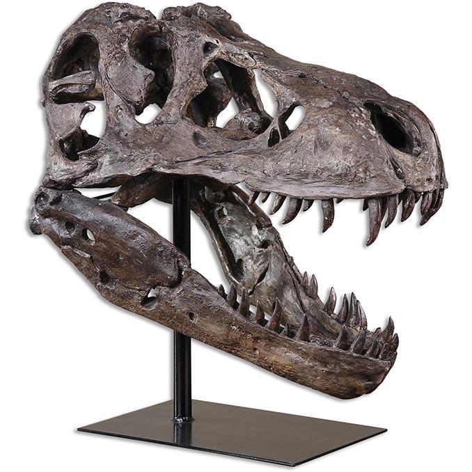 Tyrannosaurus Rex Skull Sculpture