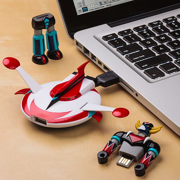 UFO Robot Grendizer Flash Drive with Docking Station