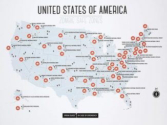 USA Zombie Safe Zones Map