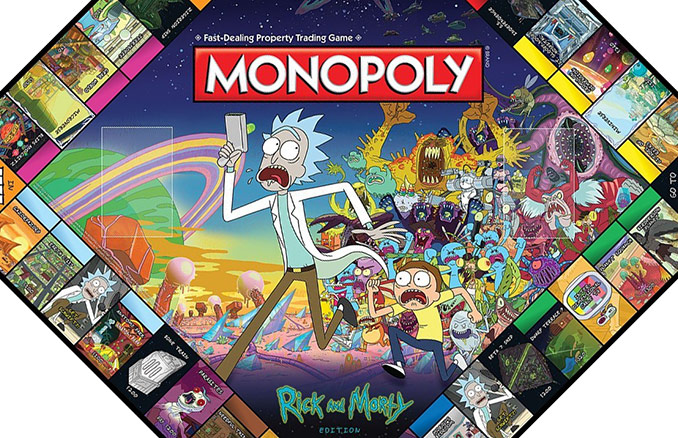 Rick And Morty Edition Monopoly Game