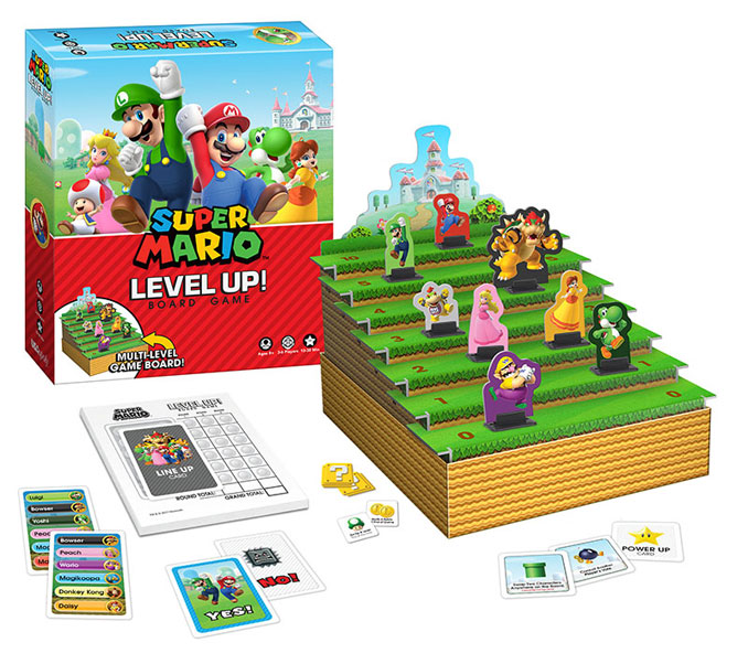 USAopoly Super Mario Bros Level Up Board Game