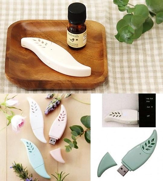USB Aroma Leaf Fragrance Dispenser