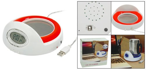 USB Mug Coffee Warmer Heater with Clock