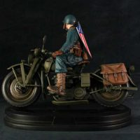 Ultimates Captain America on Motorcycle Statue Back