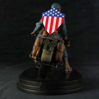 Ultimates Captain America on Motorcycle Statue with Shield