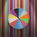 Ultra Flat Multi Color Wall Clock