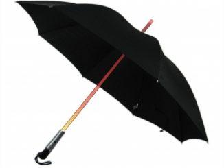 Umbrella With LED Light Up Shaft