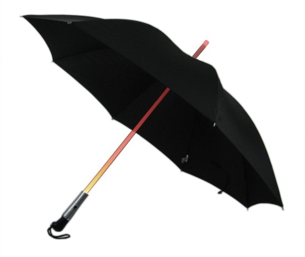 Umbrella With LED Light Up Shaft