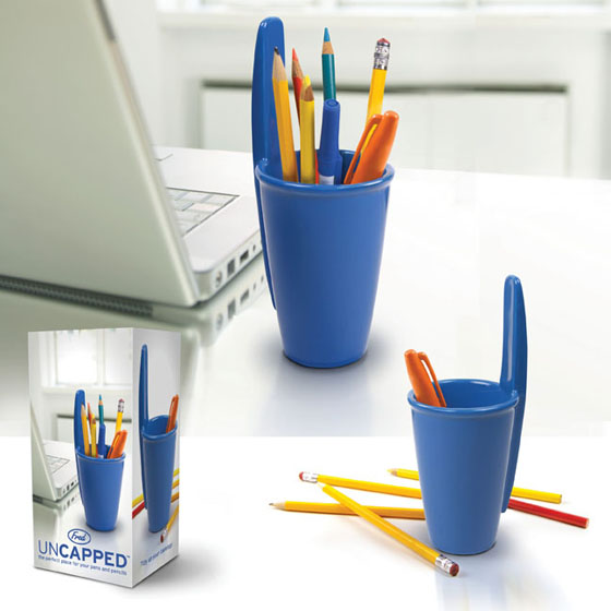 Uncapped Pen & Pencil Holder