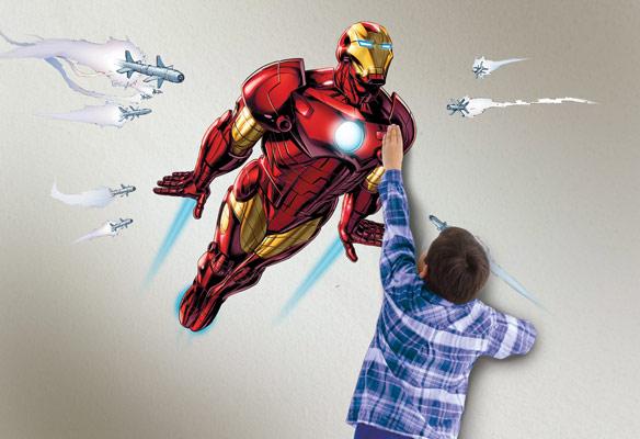 Uncle Milton Wild Walls Full Power Aerial Pursuit Iron Man