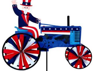 Uncle Sam on a Tractor Wind Spinner