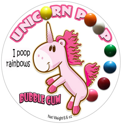 Unicorn Poop Bubble Gum