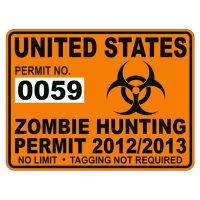 United States Zombie Hunting Permit