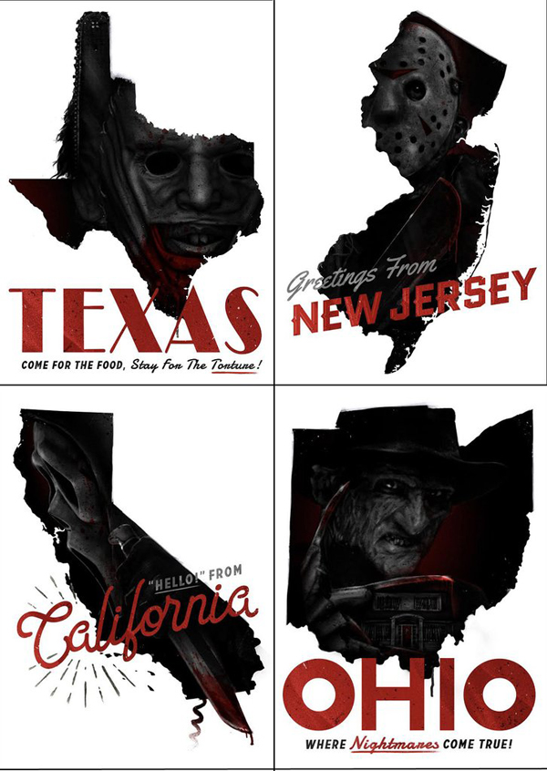 united-states-of-horror-postcard-set
