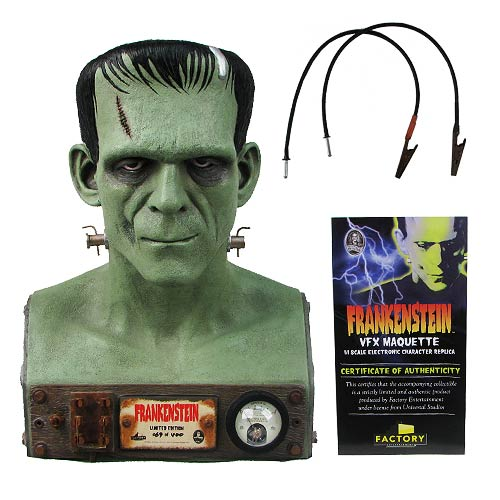 Universal Monsters Frankenstein VFX Head 1 1 Scale Bust
