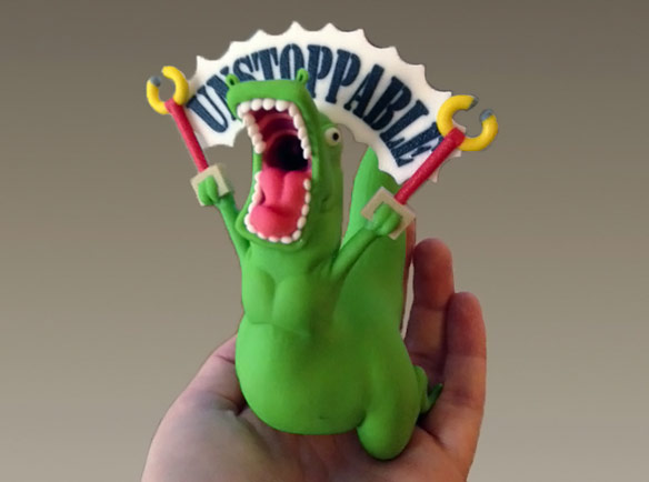 Unstoppable T Rex Figurine