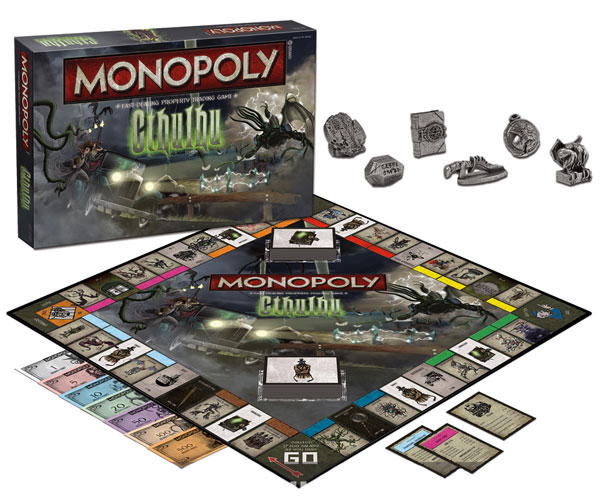 Usaopoly Cthulhu Collector's Edition Monopoly Game