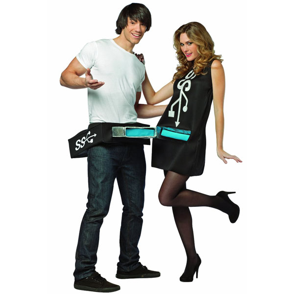 usb port and stick costumes
