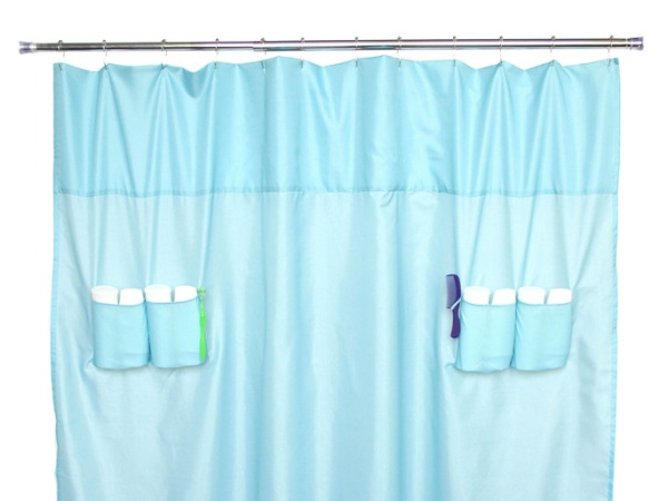 Utility Pockets Shower Curtain