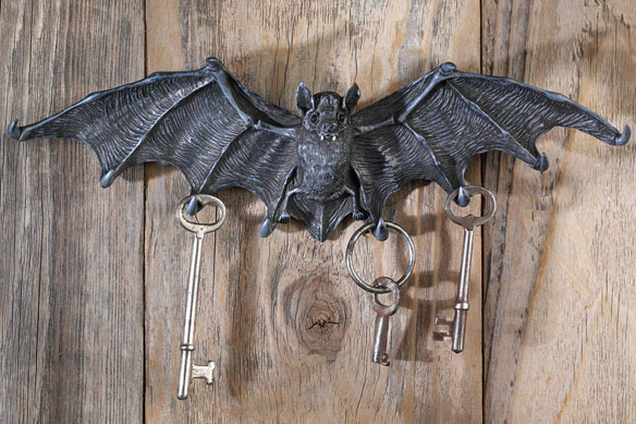 Vampire Bat Key Holder Wall Sculpture