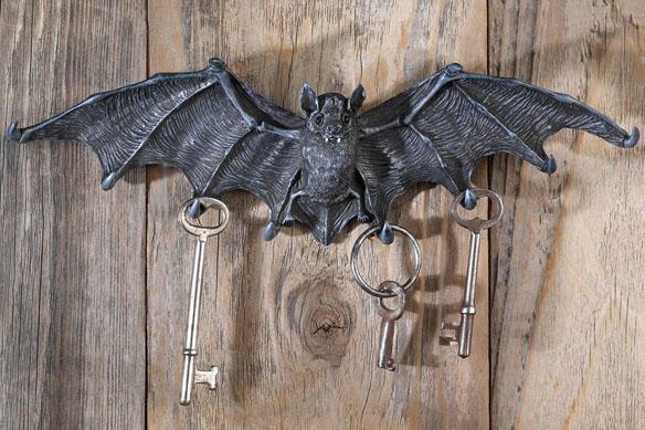 Vampire Bat Key Holder Wall Sculpture