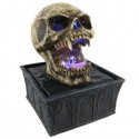 Vampire Skull Tabletop Fountain